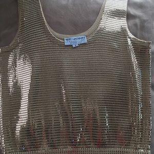 St John hold sequined tank top